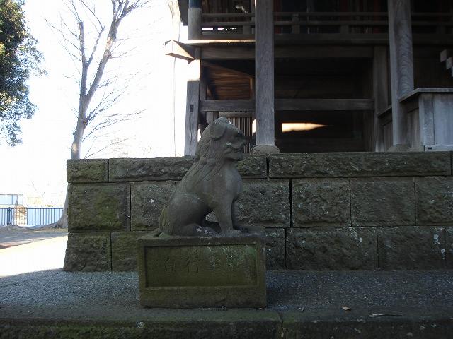 高部屋神社本殿の狛犬